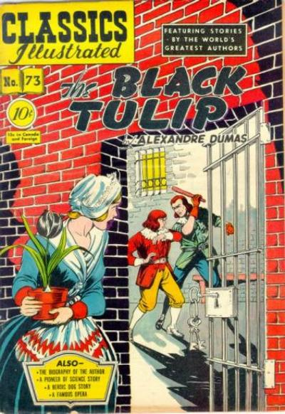 Cover for Classics Illustrated (Gilberton, 1947 series) #73 [O] - The Black Tulip