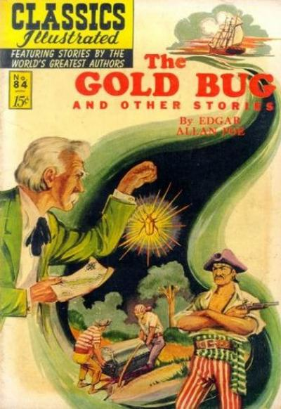 Cover for Classics Illustrated (Gilberton, 1947 series) #84 [O] - The Gold Bug and Other Stories