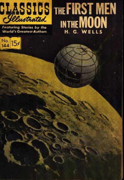 Cover for Classics Illustrated (Gilberton, 1947 series) #144 [O] - The First Men in the Moon