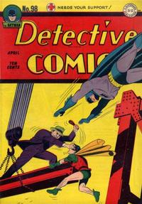 Cover Thumbnail for Detective Comics (DC, 1937 series) #98