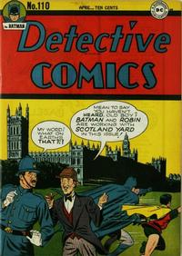 Cover Thumbnail for Detective Comics (DC, 1937 series) #110