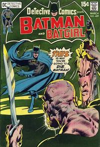 Cover for Detective Comics (DC, 1937 series) #409
