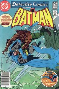 Cover Thumbnail for Detective Comics (DC, 1937 series) #505 [Newsstand]