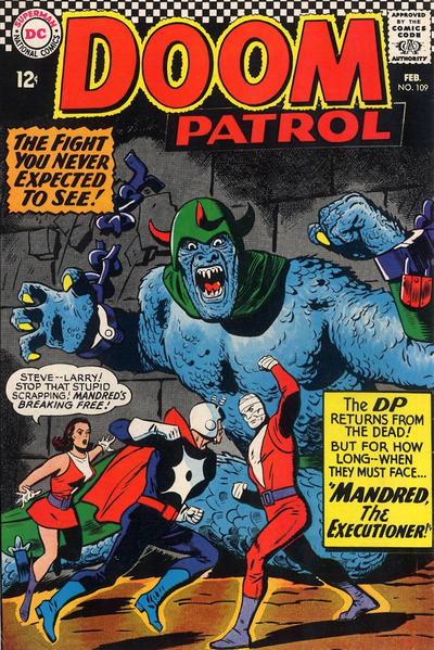 Cover for The Doom Patrol (DC, 1964 series) #109