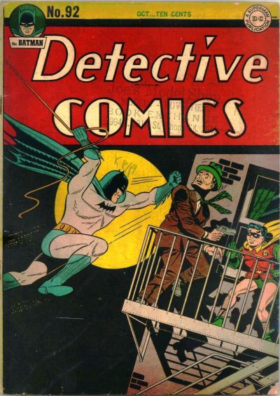 Cover for Detective Comics (DC, 1937 series) #92