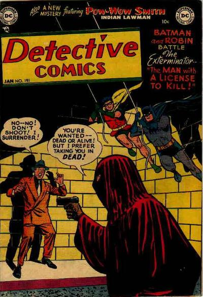 Cover for Detective Comics (1937 series) #191