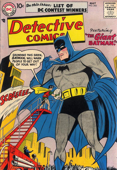 Cover for Detective Comics (1937 series) #243