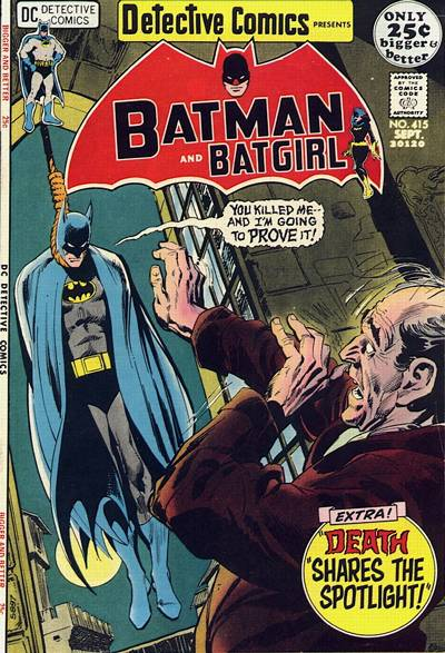 Cover for Detective Comics (1937 series) #415