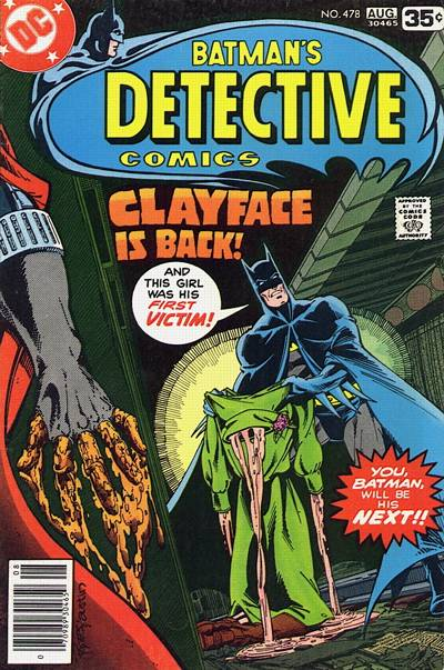 Cover for Detective Comics (1937 series) #478