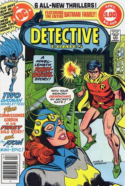 Cover for Detective Comics (1937 series) #489