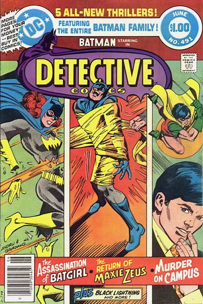 Cover for Detective Comics (1937 series) #491