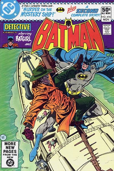 Cover for Detective Comics (1937 series) #496