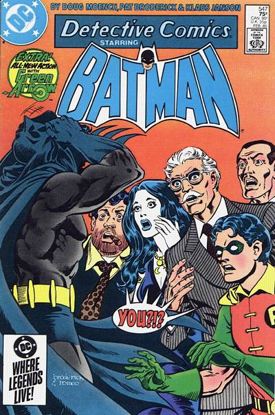 Cover for Detective Comics (DC, 1937 series) #547