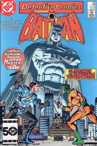 Cover for Detective Comics (1937 series) #555