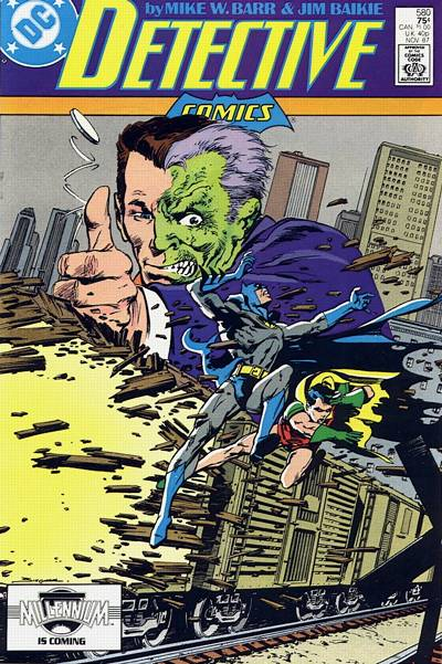 Cover for Detective Comics (1937 series) #580
