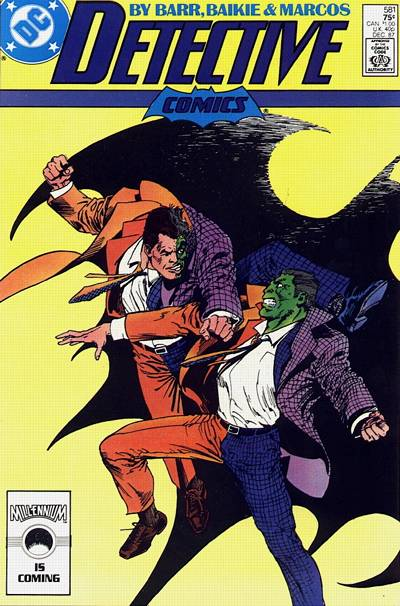 Cover for Detective Comics (DC, 1937 series) #581