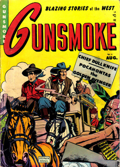 Cover for Gunsmoke (Youthful, 1949 series) #14