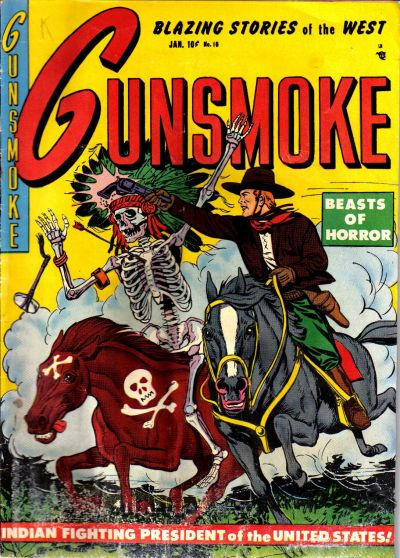 Cover for Gunsmoke (Youthful, 1949 series) #16
