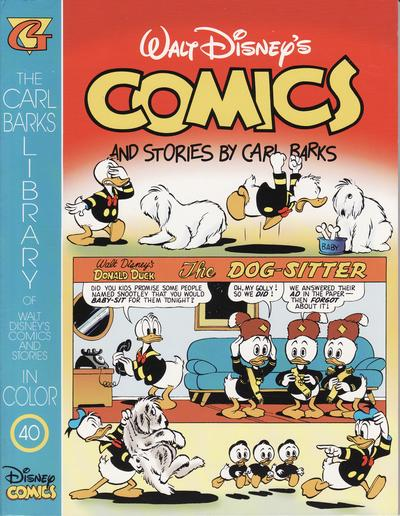 Cover for The Carl Barks Library of Walt Disney's Comics and Stories in Color (Gladstone, 1992 series) #40