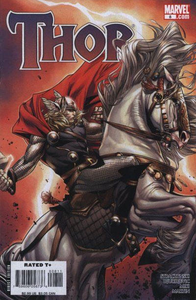 Cover for Thor (Marvel, 2007 series) #8 [Olivier Coipel variant cover]