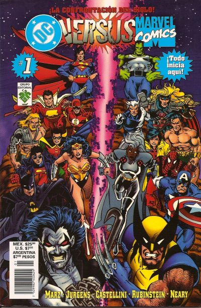 Cover for DC Versus Marvel / Marvel Versus DC (1997 series) #1