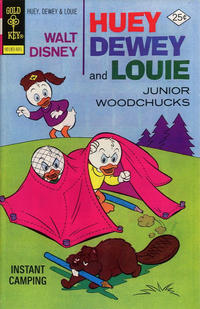 Cover Thumbnail for Walt Disney Huey, Dewey and Louie Junior Woodchucks (Western, 1966 series) #36 [Gold Key]