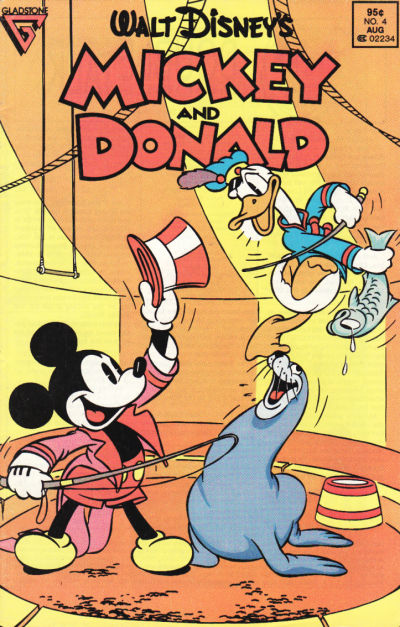 Cover for Walt Disney's Mickey and Donald (Gladstone, 1988 series) #4 [Direct]