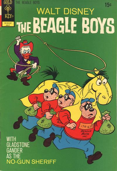 Cover for Walt Disney The Beagle Boys (Western, 1964 series) #13 [Gold Key Variant]