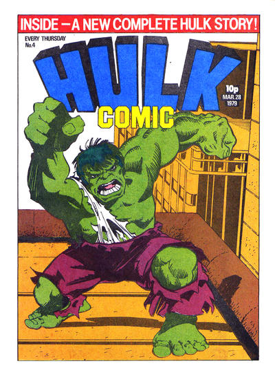 Cover for Hulk Comic (Marvel UK, 1979 series) #4