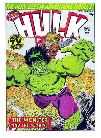Cover for Hulk Comic (Marvel UK, 1979 series) #35