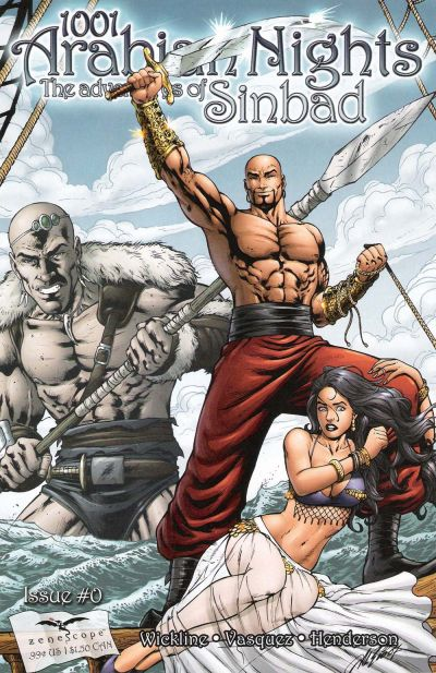 Cover for 1001 Arabian Nights: The Adventures of Sinbad (Zenescope Entertainment, 2008 series) #0