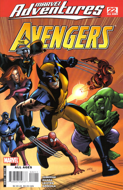 Cover for Marvel Adventures The Avengers (Marvel, 2006 series) #22