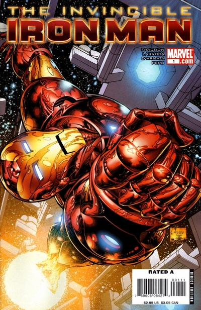 Cover for Invincible Iron Man (2008 series) #1 [Joe Quesada Cover]