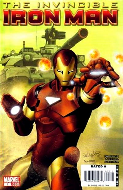 Cover for Invincible Iron Man (2008 series) #2 [Brandon Peterson Variant Cover]