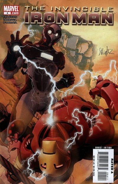 Cover for Invincible Iron Man (2008 series) #4 [Salvador Larroca Standard Cover]