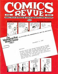 Cover for Comics Revue (Manuscript Press, 1985 series) #36