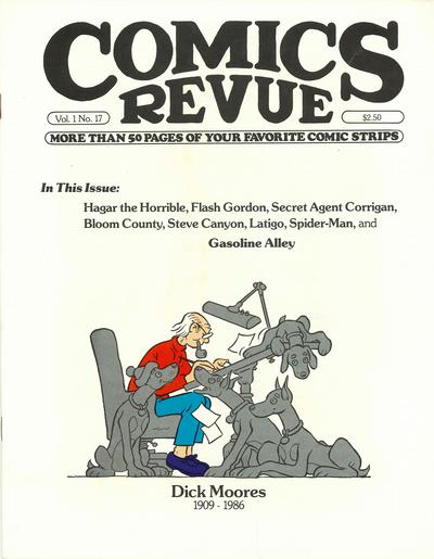 Cover for Comics Revue (Manuscript Press, 1985 series) #17
