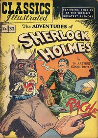 Cover Thumbnail for Classics Illustrated (Gilberton, 1947 series) #33 [HRN 53] - The Adventures of Sherlock Holmes
