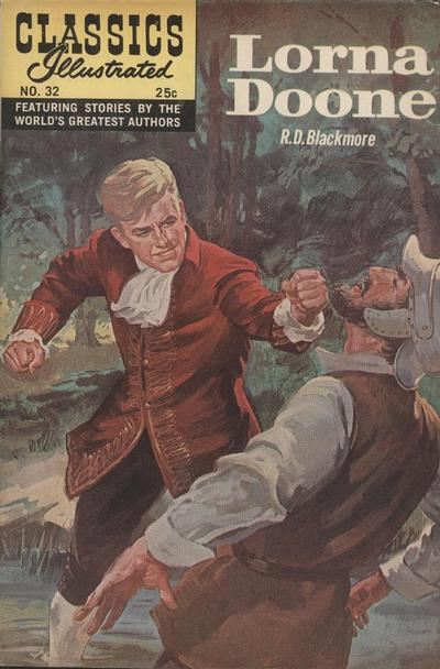 Cover for Classics Illustrated (Gilberton, 1947 series) #32 [HRN 166] - Lorna Doone