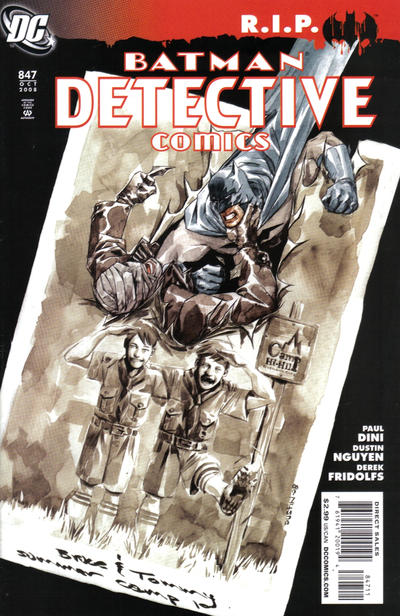 Cover for Detective Comics (DC, 1937 series) #847