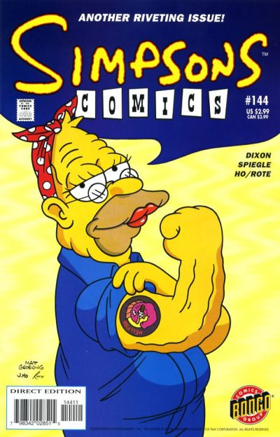 Cover for Simpsons Comics (Bongo, 1993 series) #144