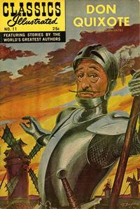 Cover Thumbnail for Classics Illustrated (Gilberton, 1947 series) #11 [HRN 166] - Don Quixote