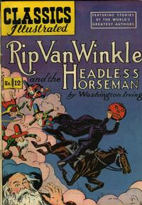 Cover Thumbnail for Classics Illustrated (Gilberton, 1947 series) #12 [HRN 60] - Rip Van Winkle and the Headless Horseman