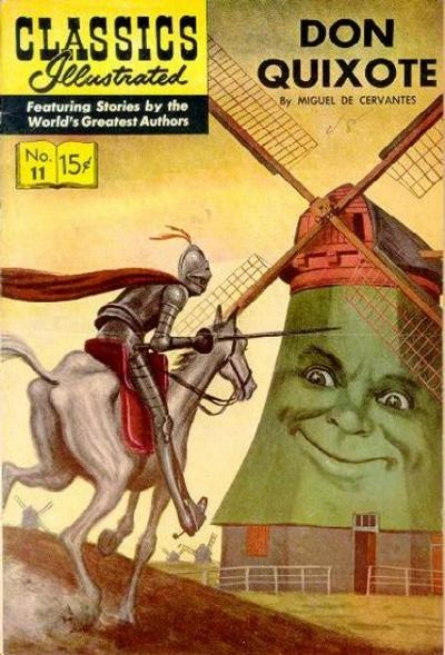 Cover for Classics Illustrated (Gilberton, 1947 series) #11 [HRN 110] - Don Quixote