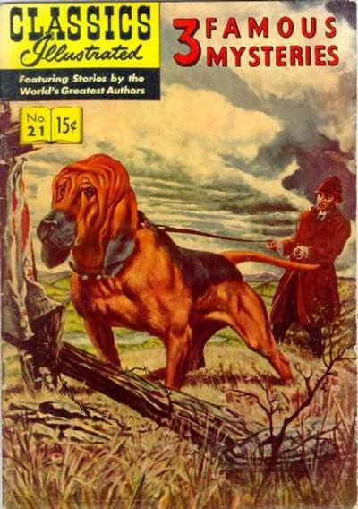Cover for Classics Illustrated (Gilberton, 1947 series) #21 [HRN 114] - 3 Famous Mysteries