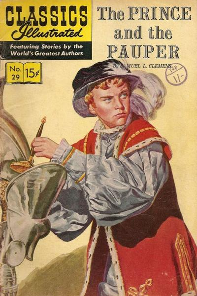 Cover for Classics Illustrated (Gilberton, 1947 series) #29  [HRN 60] - The Prince and the Pauper
