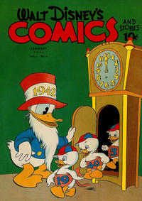 Cover Thumbnail for Walt Disney's Comics and Stories (Dell, 1940 series) #v3#4 (28)
