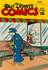 Cover Thumbnail for Walt Disney's Comics and Stories (Dell, 1940 series) #v7#7 (79)