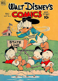 Cover Thumbnail for Walt Disney's Comics and Stories (Dell, 1940 series) #v9#8 (104)
