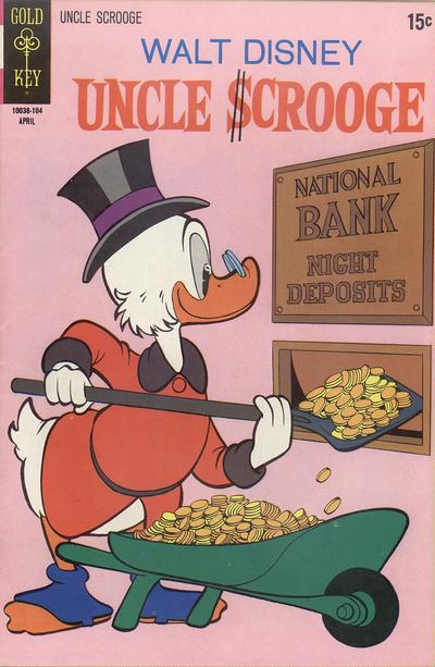 Cover for Uncle Scrooge (Western, 1963 series) #92